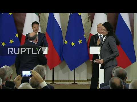 LIVE: Putin and Italian PM Conte hold press conference in Moscow after talks