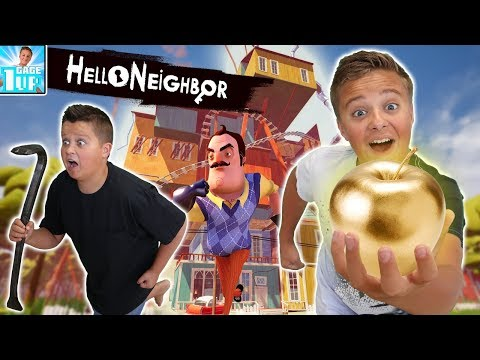 Hello Neighbor In Real Life! | Finding the Golden Apple! thumbnail