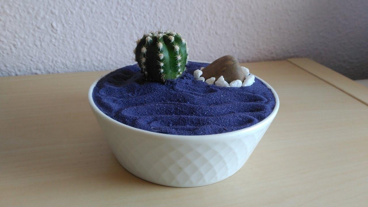 Mini jard n zen decoraci n cactus youtube for Jardin zen decoracion