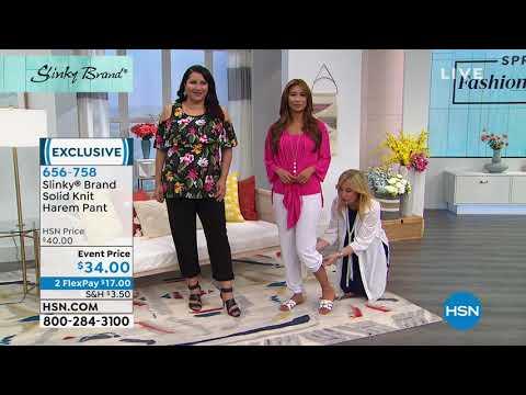 Slinky Brand Solid Knit Harem Pant. http://bit.ly/2NDDe2S