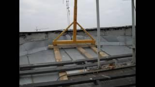 Фасадная строительная люлька ZLP 630 установка монтаж(, 2016-07-08T13:41:13.000Z)