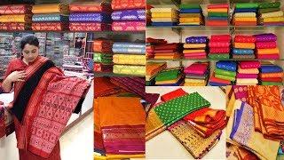 Varieties Of Saree In Puri, Orissa || Sambalpuri || Katki || Bomkai || Ikat