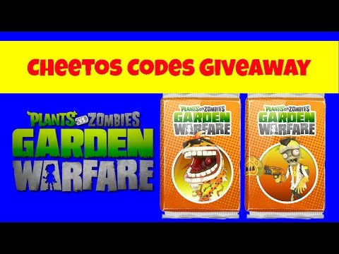Cheetos Code Giveaway Plants Vs Zombies Garden Warfare