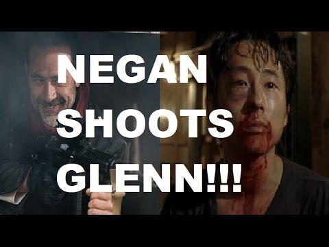 The Walking Dead Season 7 - NEGAN SHOOTS GLENN - DEATH DISPLAY!!!