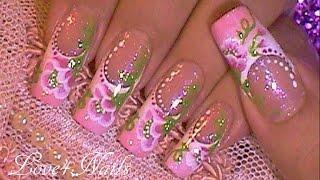 Decoracion De Uñas Tecnica Avanzada Flor A Mano Alzada thumbnail
