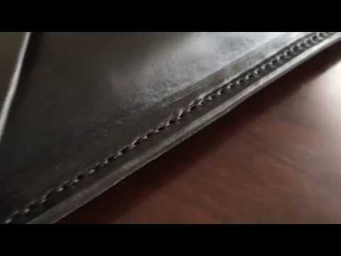 Leather Notebook Sleeve Handmade by Tom Fox