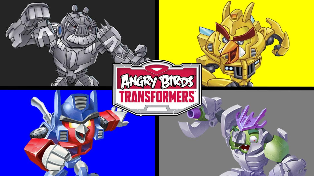 LEARN COLORS WITH ANGRY BIRDS TRANSFORMERS