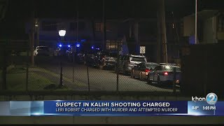Suspect charged after allegedly shooting two men in Kalihi