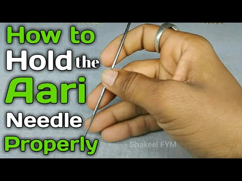 How to hold the Aari needle properly | know about aari needle | aari embroidery