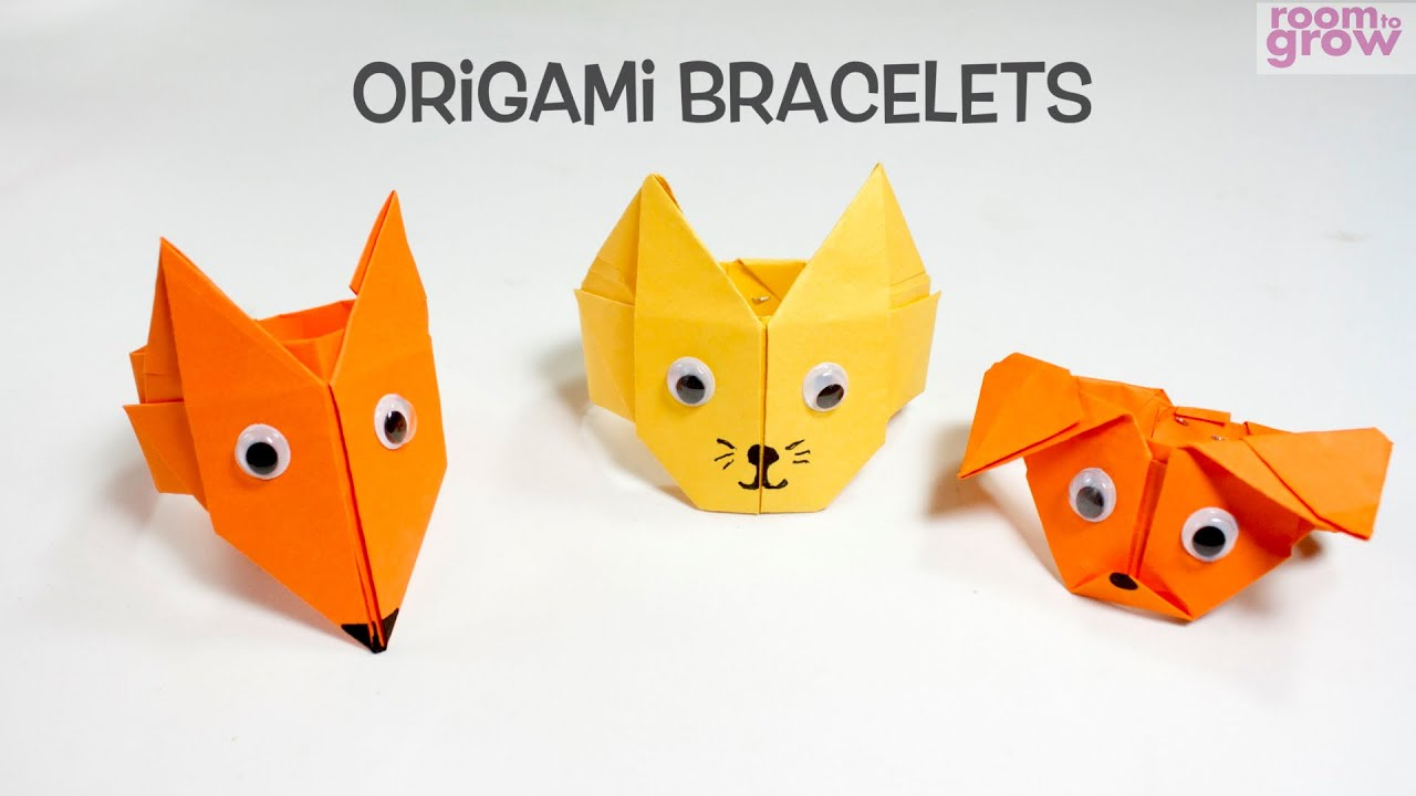 Origami Bracelets Fun Origami Craft Ideas for Kids.YouTube