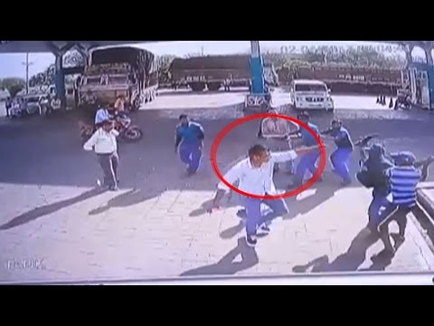 On Cam: Petrol pump staff attack customers brutally in Agra