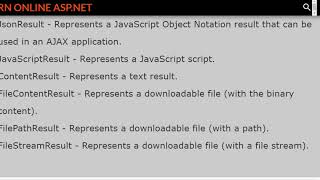 Asp.Net MVC - Action Result Interview Questions Collection