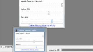 Загруженность цпу, памяти, жесткого диска под рукой(Хочу представить интересный набор утилит - Taskbar Meters. Чем он примечателен? Благодаря индикации Windows 7, вы пост..., 2011-12-17T06:25:28.000Z)
