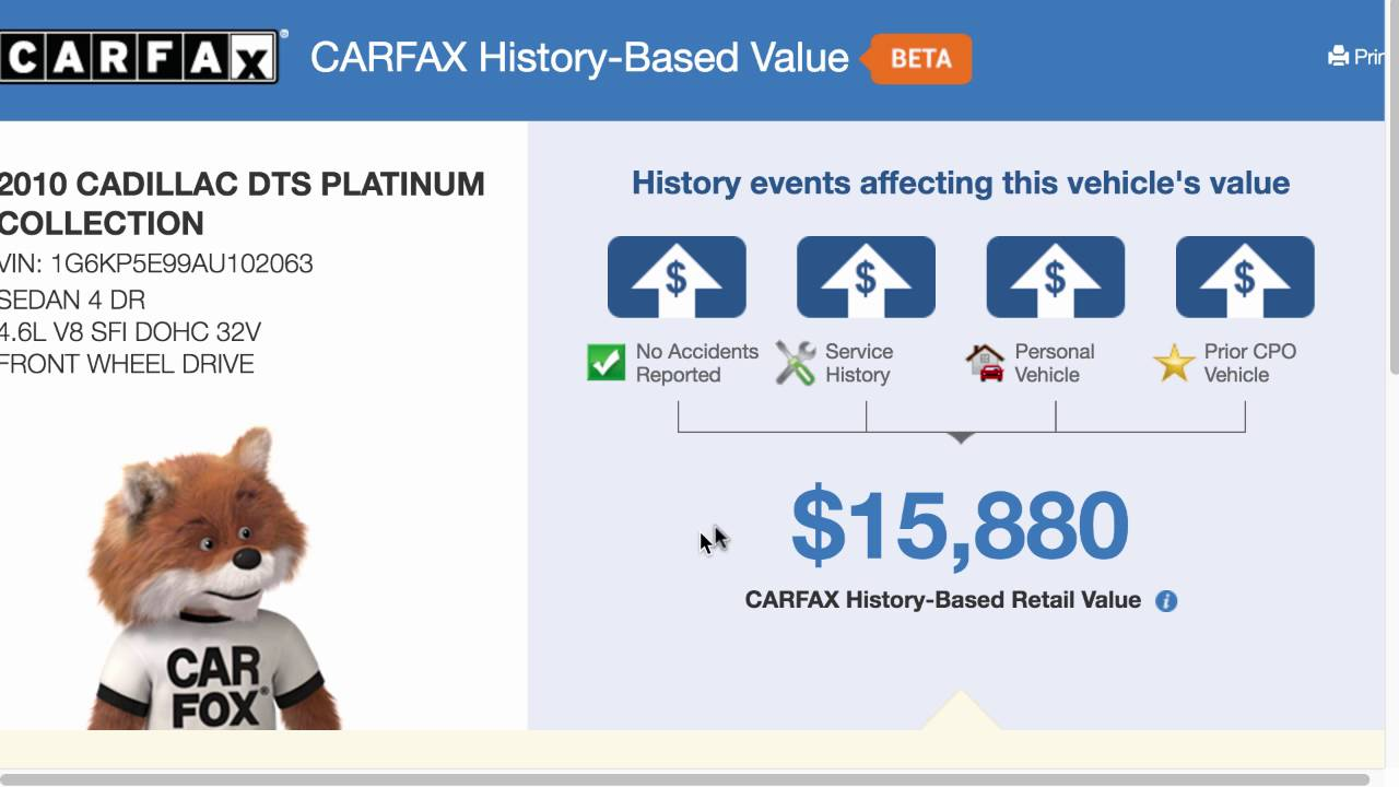 Carfax Dealer Cost - Is carfax history based value better than mmr