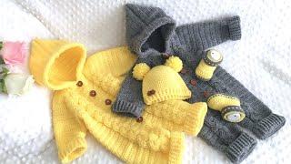 🐥Tığ İşi Bebek Tulumu🐣 Kapüşonlu Saç Örgüsü Burgu Model/kolay bebek tulumu/baby rompers
