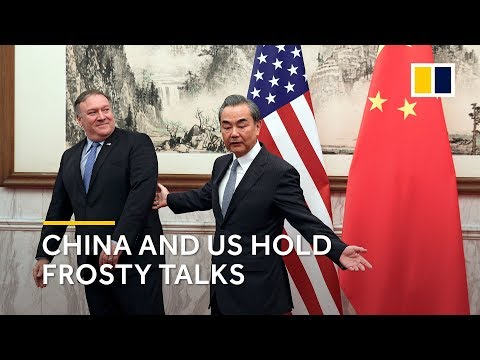 "China's Foreign Minister Wang Yi urges US counterpart Mike Pompeo to stop ""wrong actions and words"""