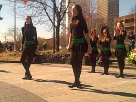 McDade Dancers Perform at the Irish Memorial at Penn's Landing on St. Patrick's Day 2010