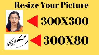 How to Resize your picture 300x300 and signeture 300x30 bangla tutorial
