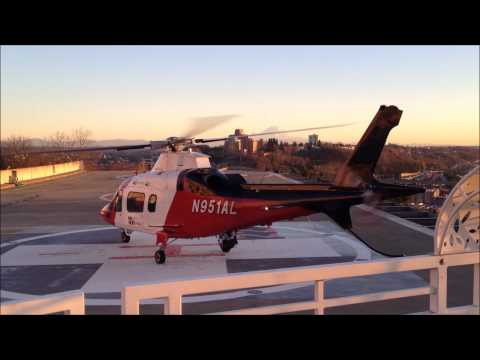 MedEvac Flight Landing at Harborview Medical Center