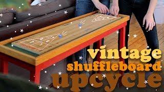 VINTAGE SHUFFLEBOARD TABLE THRIFT FLIP