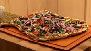 Carne Asada Grilled Pizza  - Cinco De Mayo -