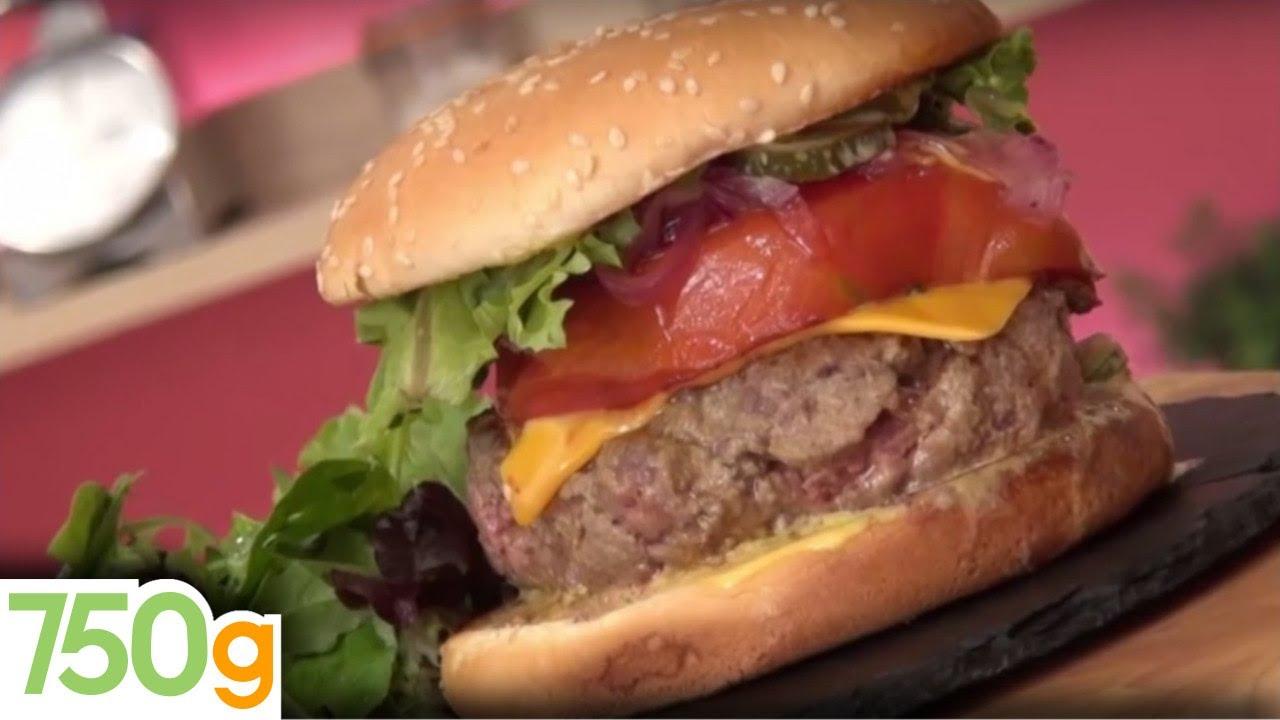 Recette du burger 750 grammes par fast good cuisine 750 for Cuisine 750 video
