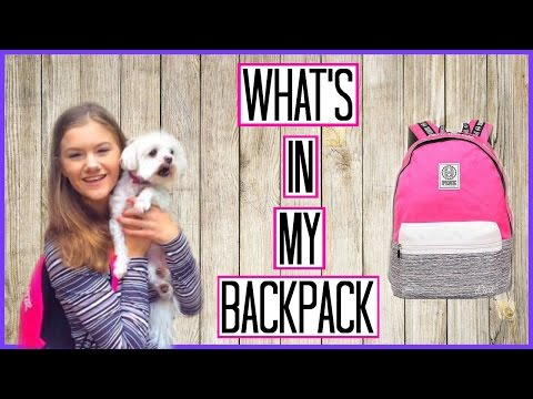 What's In My Backpack 2016! Victoria's Secret PINK Campus Backpack!