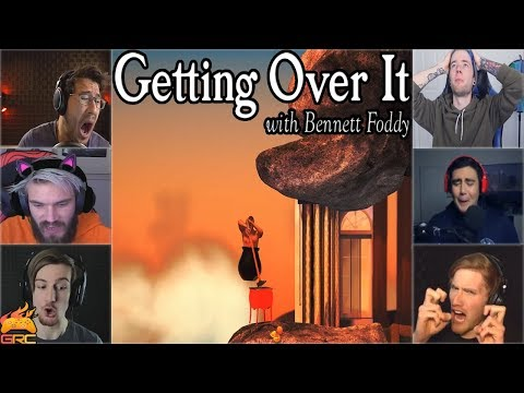 Gamers Reactions to Falling Down at  Orange Hell   | Getting Over It