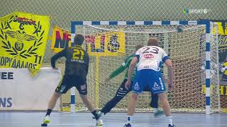 ΑΕΚ-Ντράμεν 33-31 Στιγμιότυπα HD • Handball Challenge Cup • 8-2-2020