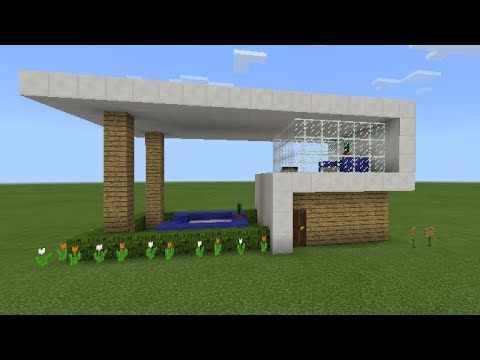 How to build a quick, easy, and simple modern house in Minecraft (4) | HD