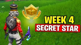 WEEK 4 SECRET BATTLE STAR LOCATION! Fortnite Season 10 - Secret Battle Star Week 4