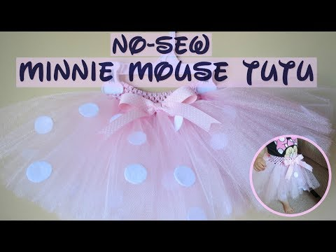 How To Make A Minnie Mouse No-Sew Tutu Skirt|Adorable And Simple DIY Tutu