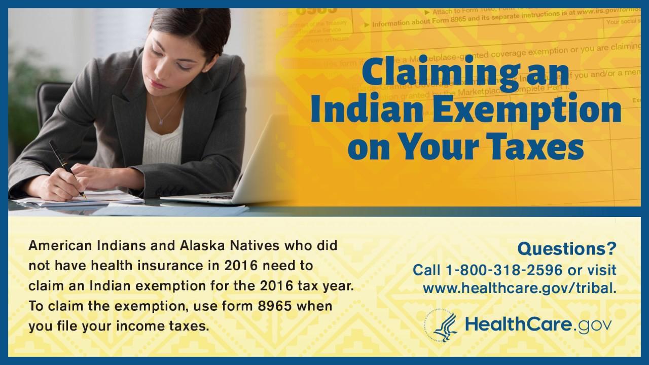 Filing Your 2016 Indian Health Insurance Tax Exemption - Lakota