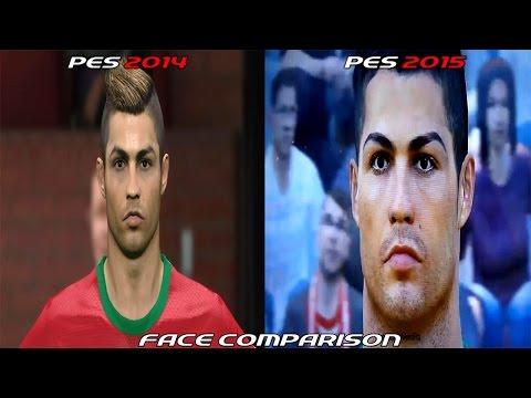 PES 2015 Vs PES 2014 - Face Comparison [HD]