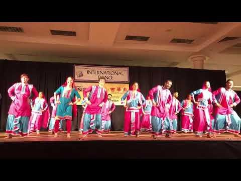 Bhangra performance at Northwest Folklife Festival