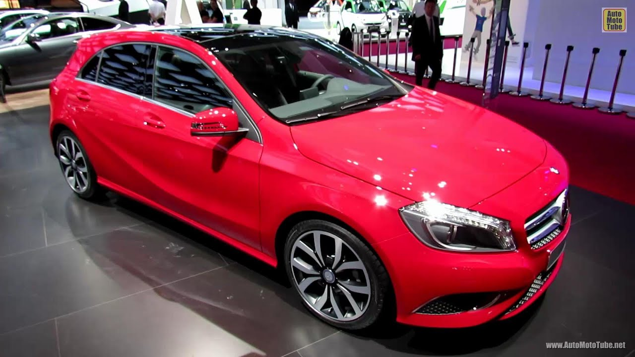 2013 mercedes benz a180 blue efficiency exterior and interior walkaround 2012 paris auto. Black Bedroom Furniture Sets. Home Design Ideas