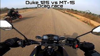 Duke 125 vs MT-15 | Funniest DRAG RACE EVER