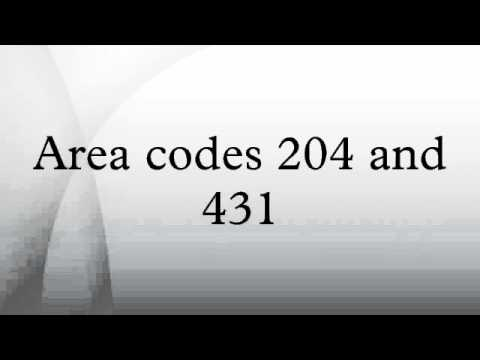 Area codes 204 and 431