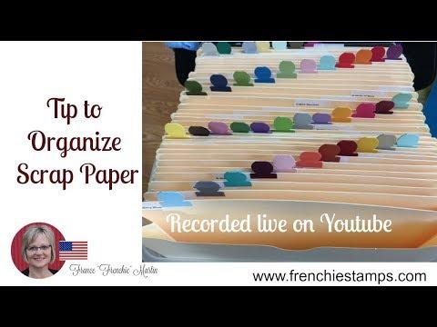 Tip to organize scrap paper