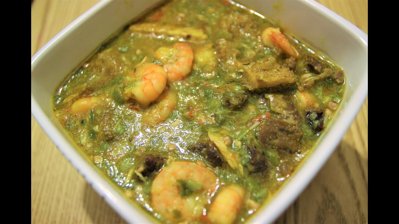How To Cook Nigerian Okra Soup Ila Nigerian Food Recipes Youtube