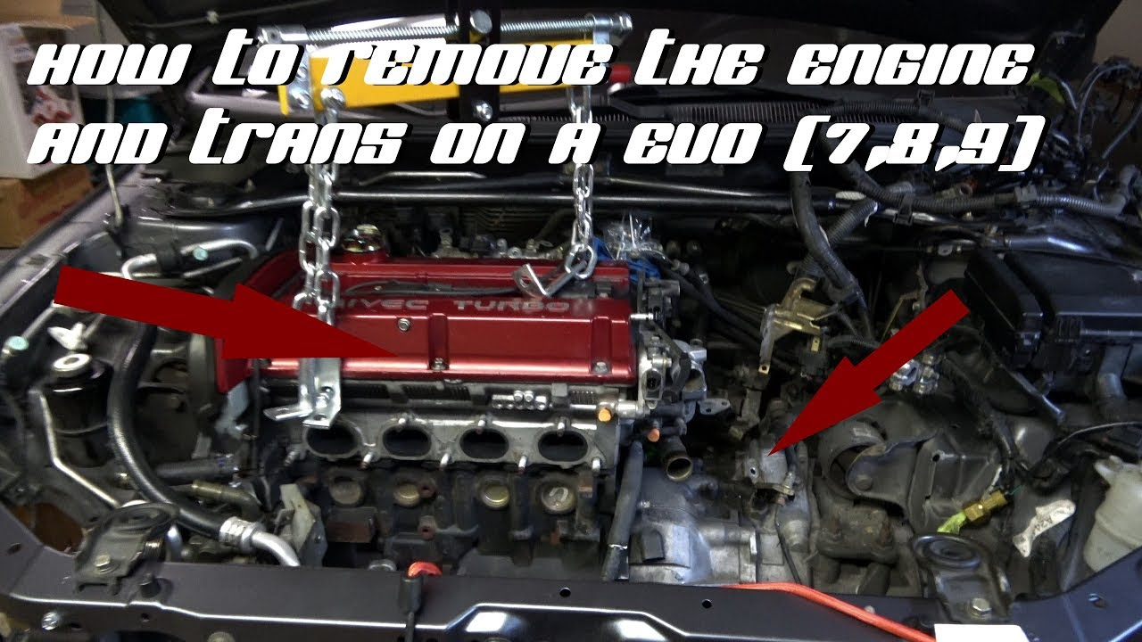 Evo 9 Se Build Episode 8 How To Remove The Engine Trans Through The