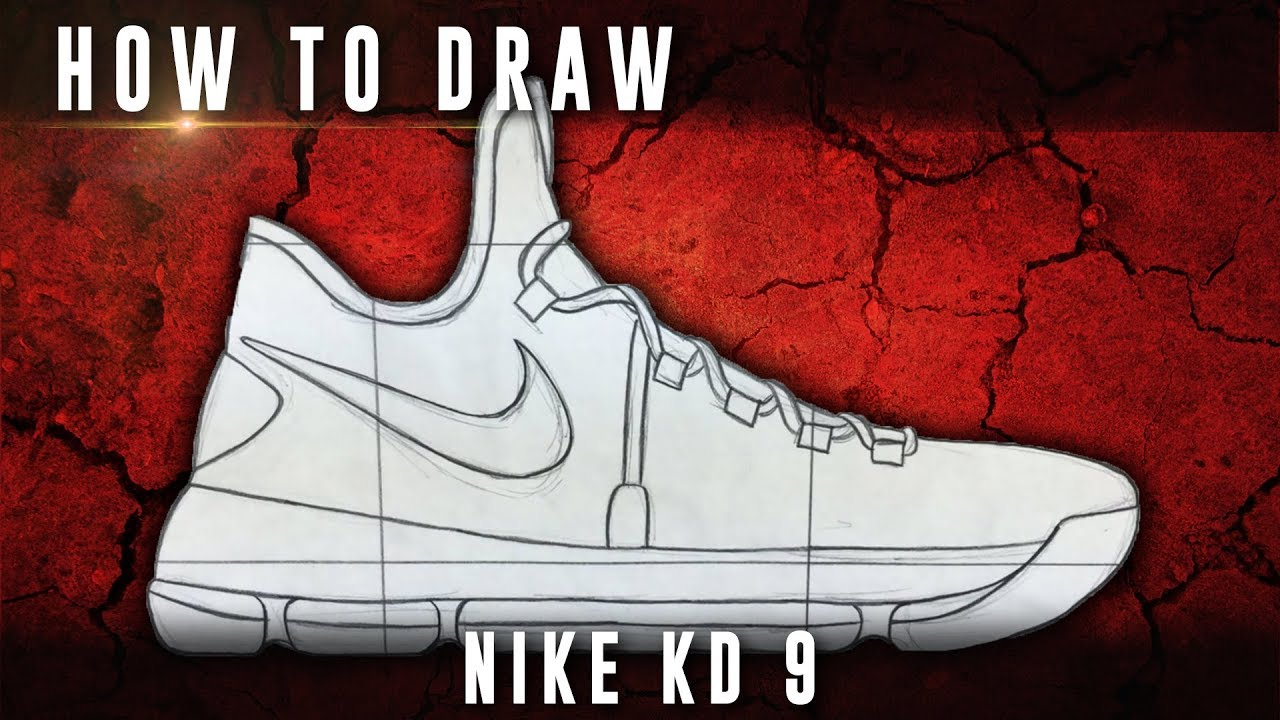 new arrival 38f2c 75022 How To Draw  Nike KD 9