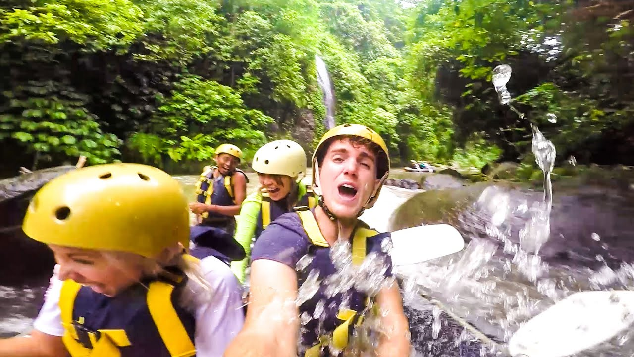 White Water Rafting Bali Indonesia Youtube