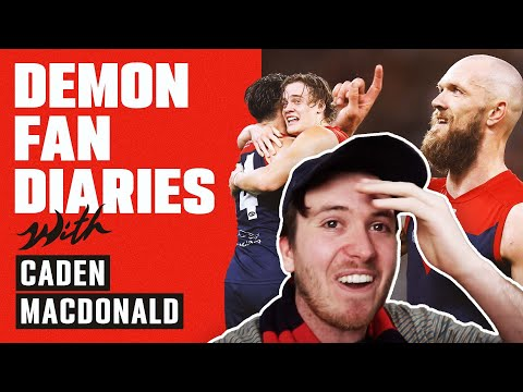 Demon Fan Diaries with Caden MacDonald   Emotions run high as a dream comes true   Episode 7   AFL