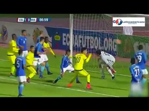 Colombia vs Brasil 1-0 - Gol Ever Valencia - 24/Enero/2017 - Sudamericano Sub 20 - Ecuador 2017