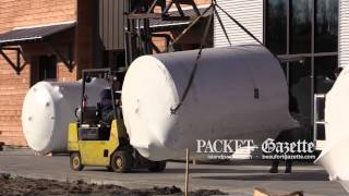 Bluffton's first microbrewery opens this spring at Buckwalter Place. The Southern Barrel Brewing Company, started by part-time Hilton Head resident Stewart Taylor, is big -- 12,500-square-feet. On Jan. 26, 2015, the brewery's equipment began rolling in. Josh Mitelman spoke with brewmaster Walter Trifari while it was happening.