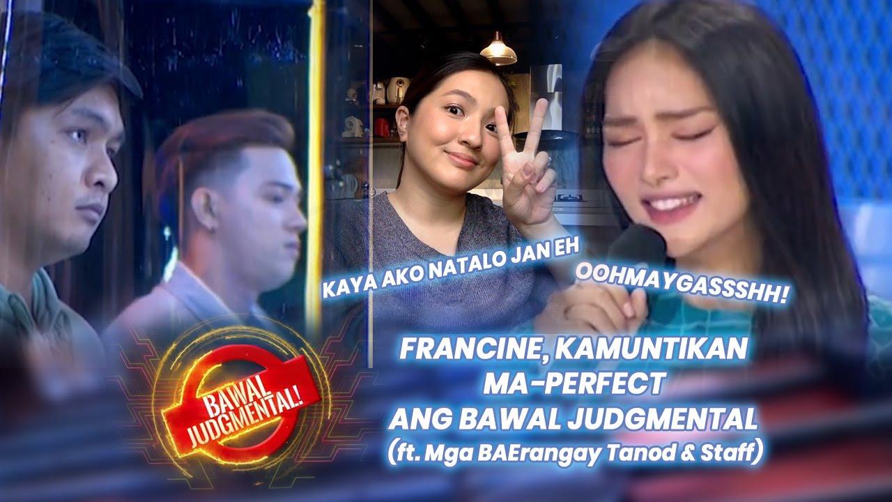 Francine, Muntik Ma-perfect ang Bawal Judgmental (ft. BAErangay Tanods & Staff) | September 24, 2020