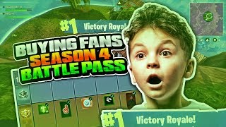 BUYING 8 YEAR OLD KID A BATTLE PASS! SEASON 4 BATTLE PASS FORTNITE BR! FORTNITE KIDS FUNNY MOMENTS