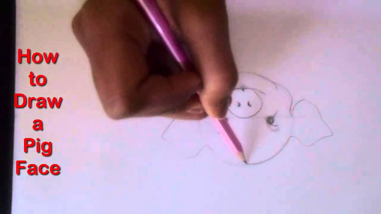 How To Draw A Pig Face Step By Step For Kids (easy Way Drawing)