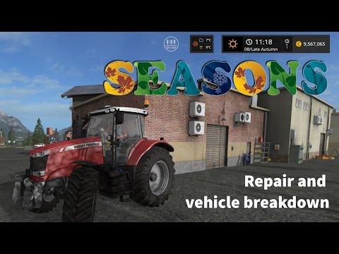 Farming Simulator 17 - Seasons Mod WIP - Repair and vehicle breakdown